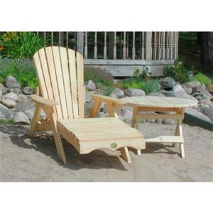 The Bear Chair Company Lounge Chair Kit White Pine