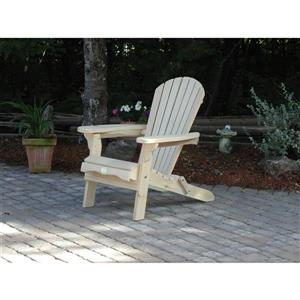 The Bear Chair Company Folding Muskoka Chair White Pine