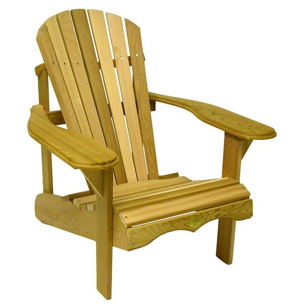 The Bear Chair Company Adirondack Outdoor Chair Red Cedar
