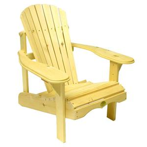 The Bear Chair Company Adirondack Outdoor Chair White Pine