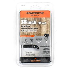 """Chaîne de scie à chaîne Remington, 72 maillons, 18"""""""