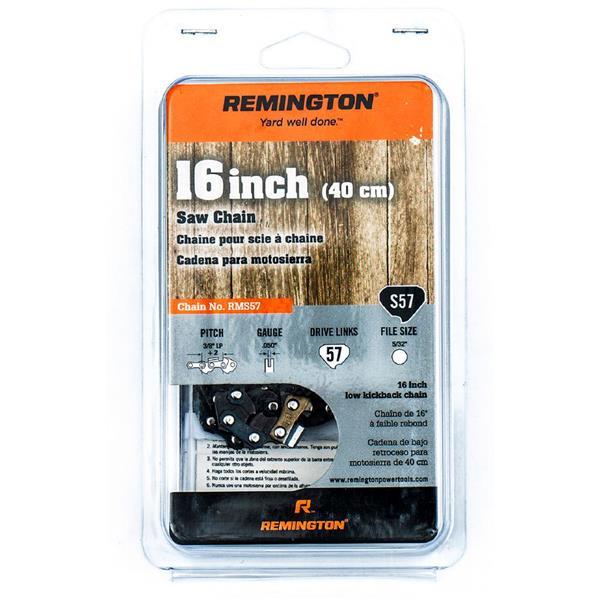 """Chaîne de scie à chaîne Remington, 57 maillons, 16"""""""