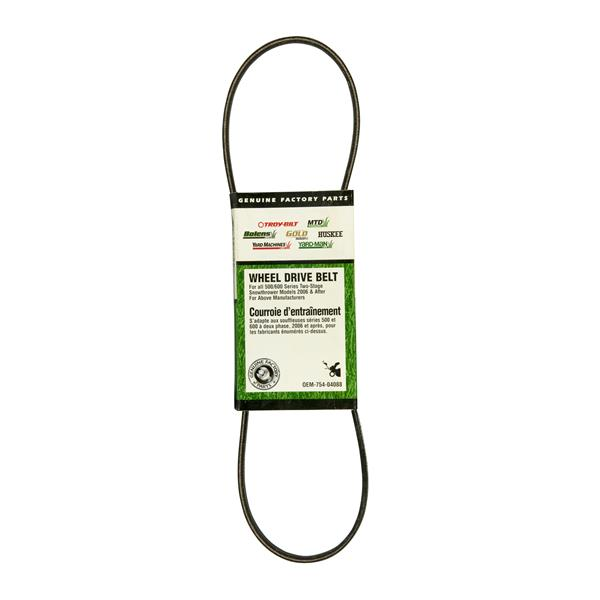 MTD Genuine Parts 0.5-in Auger Drive Belt for Snowblowers
