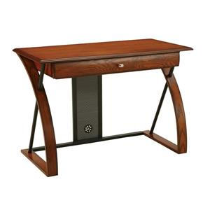 OSP Designs Aurora 30-in x 44-in Medium Oak Veneer Computer Desk