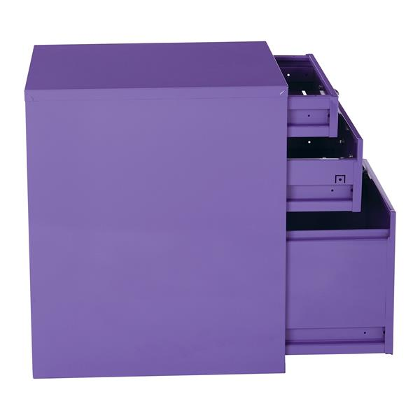 """Classeur de rangement, 22"""", violet"""