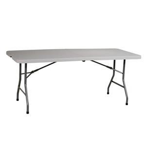 Work Smart™ Rectangular Folding Table 72-in Grey