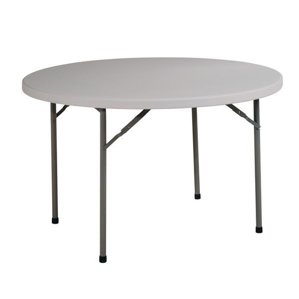 """Table pliante en ronde, 48"""", gris"""