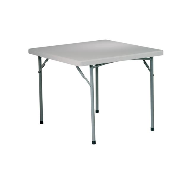 "Table pliante carré,  36"", gris"