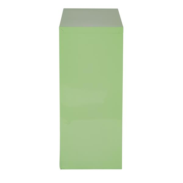 Office Star® 28-in x 28-in x 12-in Green Metal Bookcase