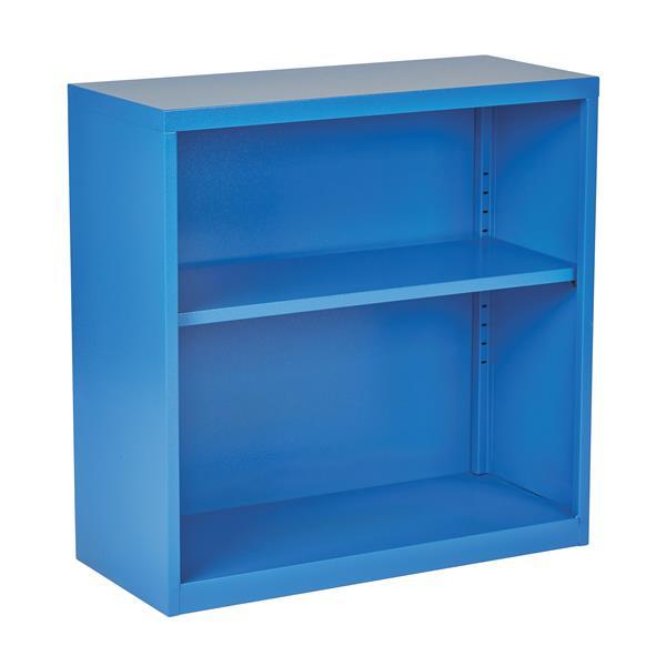 Office Star® 28-in x 28-in x 12-in Blue Metal Bookcase