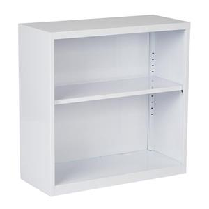 "Bibliothèque en metal, 28"", blanc"