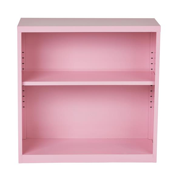 """Bibliothèque en métal, 28"""", rose"""