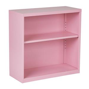 OSP Designs 28-in x 28-in x 12-in Pink Metal Bookcase