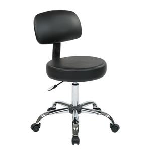 Work Smart 19.5-in Black Vinyl Stool