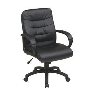 Chaise en faux cuir, noir