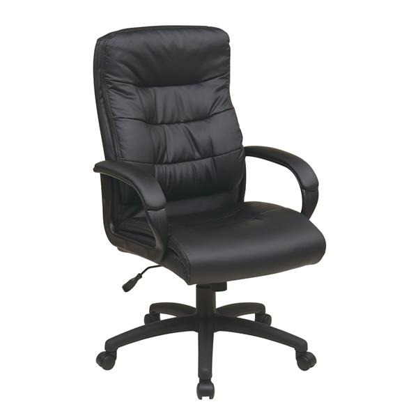 Work Smart™ Faux High Leather Chair