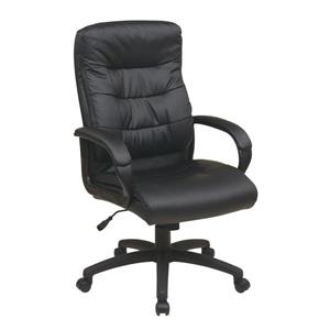 High Faux Leather Chair - Chair