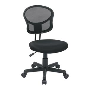 OSP Designs Mesh Office Chair - Adjustable Height - Black