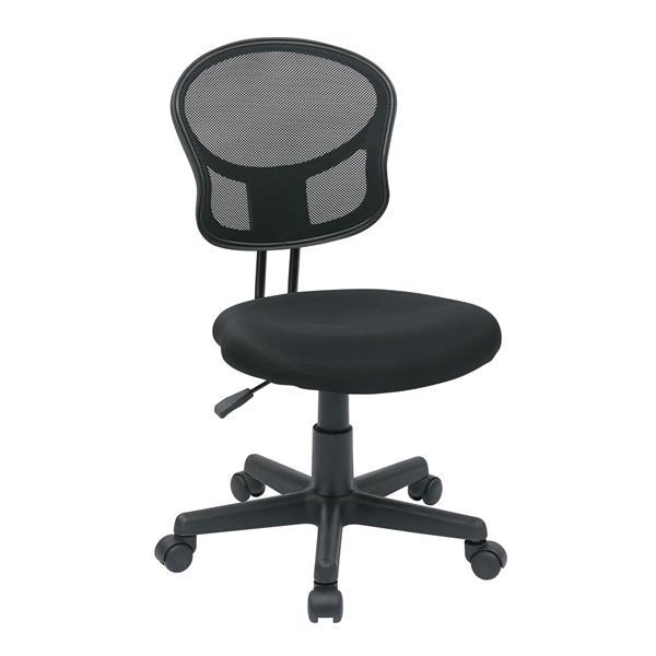 Chaise de bureau avec hauteur réglable, noir