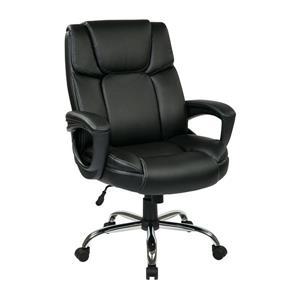 Chaise en cuir, noir