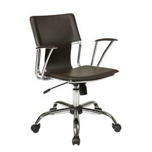 Chaise de bureau Dorado, brun