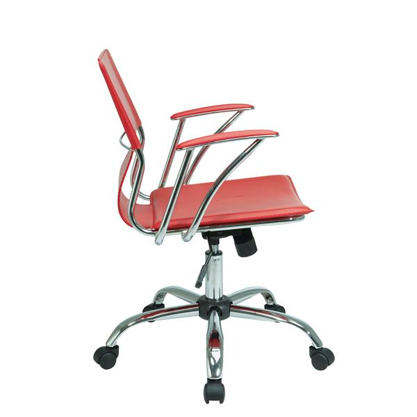 Ave Six Dorado 21.50-In x 17.00-In Red Office Chair