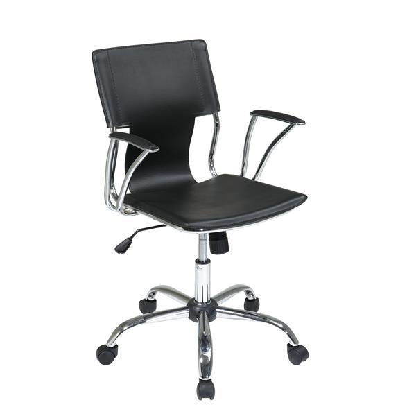 Work Smart™ 34.25-in x 17.50-in Black Foam Chair