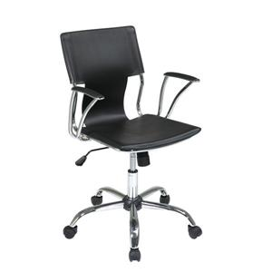 Work Smart™ 34.25-in x 17.50-in Black Foam Chair