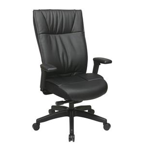 Space Seating®26.56-In x 20.50-In Black Contemporary Leather Chair