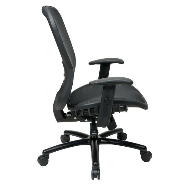 Black Mesh Drafting Chair