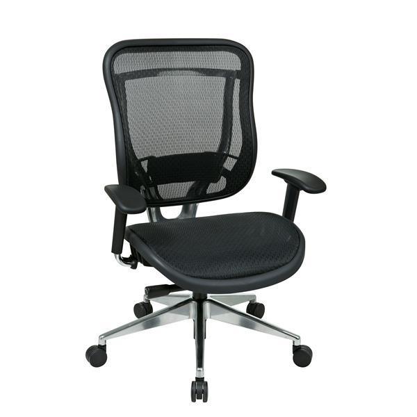 Chaise à dossier haut, noir