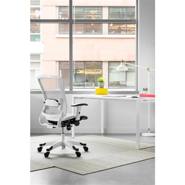 Chaise de bureau en filet, blanc