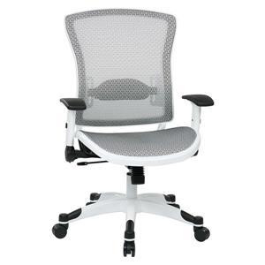 Chaise de bureau en filet, blanc