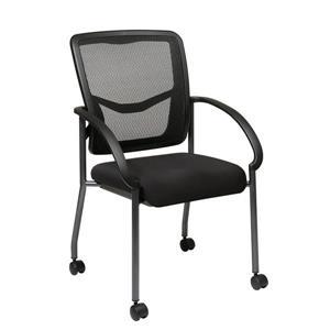 Chaise à roulettes ProGrid , noir