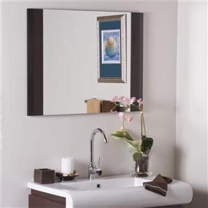 """Decor Wonderland Expresso Mirror - 31.5"""" - Rectangular"""