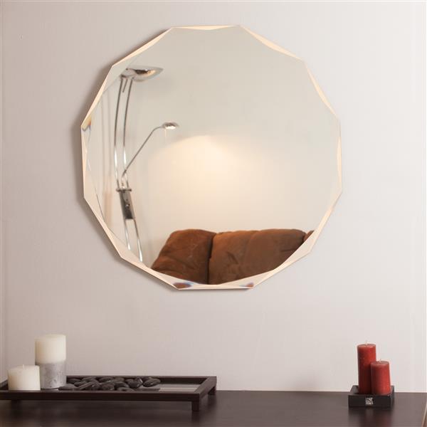 Decor Wonderland 27.6-in Frameless Round Mirror