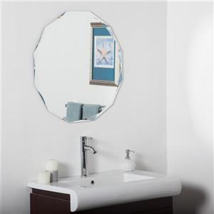 "Miroir sans cadre, 27,6"", rond"