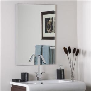 Decor Wonderland Frameless Rectangular Mirror 23.5-in x 31.5-in