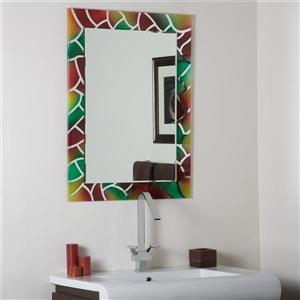 Decor Wonderland Mosaic 23.6-in Rectangular Mirror