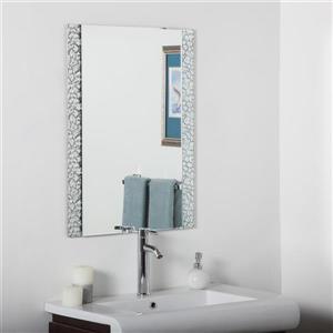 Decor Wonderland Vanity 23.6-in Rectangular Mirror