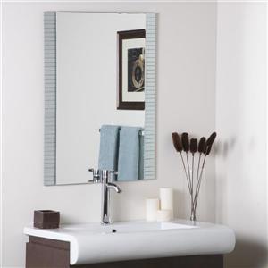 Decor Wonderland Horizontal 23.6-in Rectangular Mirror
