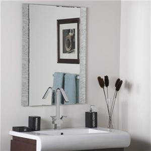 Decor Wonderland 23.6-in x 31.5-in Frameless Rectangular Mirror