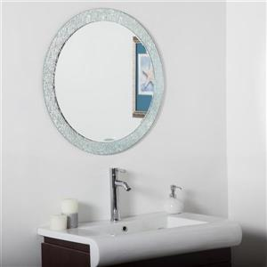 Decor Wonderland Molten 27.6-in Round Mirror