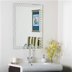 Decor Wonderland Frameless 23.5-in Oval Mirror