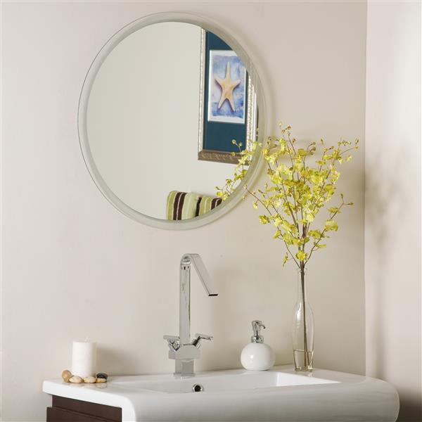 "Miroir sans cadre, 23,6"" x 23,6"", rond"