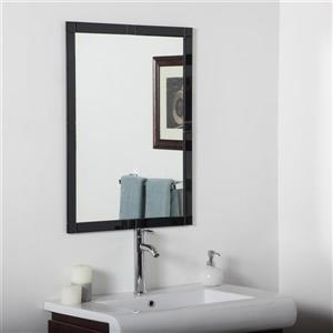 Decor Wonderland Frameless 23.6-in Rectangular Bevelled Mirror