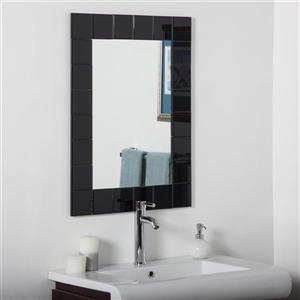 Decor Wonderland Montreal 23.6-in x 31.5-in Rectangular Mirror
