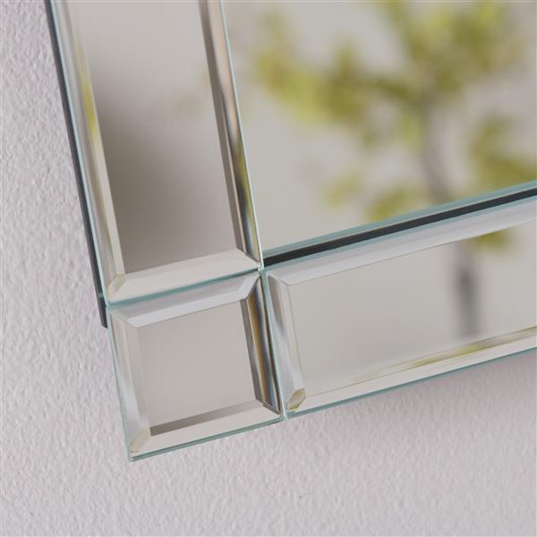 """Miroir sans cadre, 23,6"""", rectangulaire"""