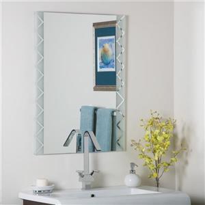 Decor Wonderland Frameless Polished 23.6-in Rectangular Mirror