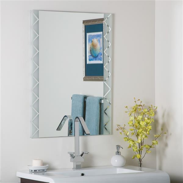 """Miroir sans cadre, 23,6"""", rectangulaire, poli"""